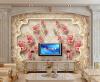 Фото обои 3D роза европейский стиль ретро имитация мягкие росписи спальня гостиная ТВ фон нетканые обои фреска пользовательские обои для фото европейский стиль романтический цветок 3d росписи брак комната спальня гостиная нетканые печатные обои 3d