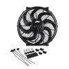 Ryanstar Racing 12V 14 inch Universal Slim Push Pull Electric Radiator Cooling Fan With Mount Kit fxcnc universal stunt clutch easy pull cable system motorcycles motocross for yamaha yz250 125 yz80 yz450fx wr250f wr426f wr450