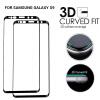 2Pack- GiGiboom 3D Full Cover Изогнутый край закаленного стекла Защитная пленка для Samsung Galaxy S9 HD Anti Scratch Black аксессуар защитное стекло samsung galaxy a3 2017 solomon full cover black
