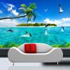 Пользовательские обои Mural Summer Sea View Dolphin Modern TV Background Фото Обои для стен Обои для гостиной 3D самые дешевые обои для стен брянск