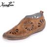 Xiangban ручной работы оригинальные ретро женщины обувь указал кожа резные полые из дышащей женщин насосы этнического стиля обувь ручной работы из италии