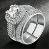 Щепка Цвет AAA CZ Diamond Crystal Кольца Мода Свадебные и Обручальные кольца для женщин R568 кольца