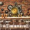 Персонализированная настройка Механическое оборудование 3D Обои настенные обои Современный ретро-ресторан KTV Bar Cafe Ресторан Творческая настенная бумага 3 D морской ресторан