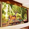 Пользовательские 3D-обои для фото Лесное дерево Лосья Олень Большая гостиная Фон Обои для стен Картина Нетканые соломенные обои Фрески самые дешевые обои для стен брянск