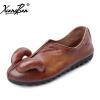 Xiangban женская обувь без каблука Повседневная без шнуровки обувь дышащая натуральная кожа мягкая резиновая подошва обувь личност