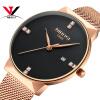Часы Mesh Band Montre Homme NIBOSI Watch Men Luxury Brand Знаменитые мужские часы из нержавеющей стали Серебряные кварцевые наручные часы для мужчин