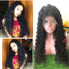 150% Плотность Curly Virgin Hair Hair Wigs для черных женщин Средняя часть Кружева Передние парики Человеческие волосы Natural Color Bellahair 8A fashion long curly hair wigs wind red
