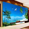 Пользовательские обои 3D Mural Спальня Диван Телевизор Фон Обои на стенах Домашний декор Пляж Coconut Grove Современные обои для картины на стенах