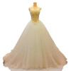 роскошный ручной сшитый жемчуг сексуальный без бретелек бальное платье свадебное свадебное платье бальное платье