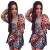Lovaru ™Новый +2015 моды Топ способа Silk полиэстер Бальные платья с длинными рукавами V Ведущий Leopard платье lovaru ™новый 2015 моды топ способа silk полиэстер бальные платья с длинными рукавами v ведущий leopard платье