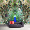 Пользовательские фото Wall Paper Rolls Peacock Open Screen 3D Large Mural Wallpaper Жилая комната TV Background Wall Decoration Painting