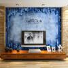 Пользовательские 3d-росписи большой росписи 3D стерео ТВ фон обои нетканые обои синяя имитация плитки обои фрески пользовательские 3d росписи большие стерео 3d нетканые обои