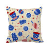 USA Hat Candy Ice Cream Star Festival Square Throw Pillow Insert Cushion Cover Home Sofa Decor Gift free air ship to youir home ce 50hz 60hz single square big pan ice cream roll machine with 5pcs tanks fried ice cream machine