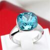 Кольцо ювелирных изделий способа высокого качества розовое кристаллическое розовое золото сделанное с австрийскими кристаллами обручальные кольца для женщин R117