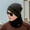 Yu Zhaolin (YUZHAOLIN) мужской зимний теплый утолщенный шерстяной колпачок плюс бархатный воротник трикотажная шляпа ветрозащитная зимняя шерсть нагрудники черный куртка yu zhaolin yzl14dm100