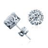 yoursfs ® 925 серебро 1ct искусственной Diamond сережку моды серебряные украшения