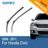 SUMKS Wiper Blades for Honda Civic 26&23 Fit Hook Arms 2006 2007 2008 2009 2010 2011 2x led daytime running light with fog lamp cover for mercedes benz ml350 w164 2006 2007 2008 2009 automotive accessories