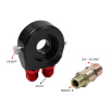 RACING OIL FILTER SANDWICH ADAPTER BLACK SS NYLON STAINLESS STEEL BRAIDED AN10 HOSE OIL FILTER oil pump worm gear fuel oil hose line filter kit for stihl ms 180 170 ms180 ms170 018 017 chainsaw replacement parts 11236407102