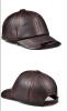 2018 Высокое качество Подлинная кожа Регулируемая сплошной цвет Бейсбольные шапки Мужская пара Hat Мода Отдых Повседневные шляпы
