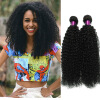super model afro hair extensions 4pcs Brazilian Kinky Curly Hair Weave Bundles Afro Mongolian Kinky Curly Human Hair Extensions Brazilian Kinky Curly Hair