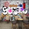 Пользовательские обои настенные 3D стены Креативное искусство Ретро-стрит Граффити Бар Ресторан Фон Декор Большие обои для стен Обои пользовательские 3d росписи 3d стерео личности ktv бар фон стены настенные обои граффити музыка символ фрески