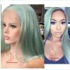 Виргинские перуанские цвета волос Прямой полный парик шнурка Свободный парик человеческих волос полного шнурка полный парик шнурка фронта безрукавный для женщин серый парик парик вайс шнее uni