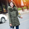 2017 New Women's Fashion Wool Collar Winter Thicken Warm Down Jacket Cotton-padded Jacket 2017 kids warm winter boys down jacket children thicken coat long down jackets for boys white duck down hooded collar outerwear