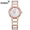 Роскошные ROSDN керамические ремешки для часов Розовое золото Браслет Shell Dial Dress Watch Gi