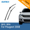 SUMKS Wiper Blades for Peugeot 2008 26&16 Fit Push Button Arms 2012 2013 2014 2015 2016 sumks wiper blades for peugeot 301 24