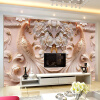 3D Stereo Relief Peacock Flowers Mural Photo Wallpaper Living Room TV Sofa Study Backdrop Art Wall Paper For Walls 3D Home Decor high quality 3d stereo flower pattern non woven flocking wallpaper modern living room bedroom tv background decor wall paper 10m