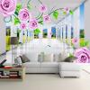 Пользовательские фото фрески Современные 3D-стерео пространства Роза Vines Жилая комната диван ТВ Фон Обои для стен Обои для спальни декор для стен