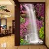 Фото обои Красивый водопад Лебедь Розовый Цветочный фон Настенная панно Гостиница Лобби Гостиная Вход Декор Papier Peint 3D лобби ресторан