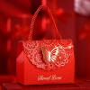 Фавор сумки Yuhua чак свадьбы конфеты коробка коробки конфеты могут быть установлены дымовые яйцо коробка Сувенирная сумка 100 смонтированные принадлежности свадебные конфеты