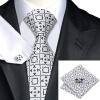 Н-0535 моде мужчины Шелковый галстук набор галстук Запонки платок серый Новинка набор галстуков для мужчин формальных Свадебный бизнес оптом купить шифер оптом в липецке