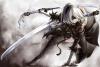NieR Automata красивый воин кен женщина меч девушка лицо гостиная комната художественное оформление ткань плакаты принты classical cellular automata
