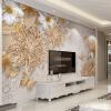 Пользовательские обои Mural для спальни для спальни 3D Роскошные золотые украшения Flower Butterfly Background Wall Wall Home Decor Living Room