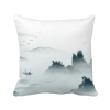 Landscape Color Chinese Style Watercolor Polyester Toss Throw Pillow Square Cushion Gift custom polyester leaning cushion covers pillowslip 15 7 x 15 7 square throw pillow case