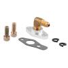 Ryanstar Billet Aluminum 1/8 NPT AN4 Turbo Oil Feed Kit For T3 T4 Turbo 1 pc nice 1 8 npt engine oil pressure sensor gauge sender 100