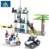 KAZI 6728 Police Series Buliding Blocks Совместимость Legos City DIY Полицейский командный центр Motorcyc Bricks Blocks Set