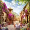 Пользовательские 3D-росписи Обои Европейский город Пасторальский город Пейзаж Природа Фото Стены Фрески Кафе Ресторан Фон Обои на стене 3 D