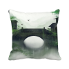 Southern Season Chinese Style Watercolor Polyester Toss Throw Pillow Square Cushion Gift merry christmas grass cushion throw pillow case