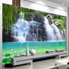 Пользовательские 3D-обои для фото Водопад Пейзаж Стена Картина Спальня Гостиная Диван ТВ-фон Нетканые настенные обои пользовательские 3d обои для фото blue sky lake вода природа ландшафт декоративная картина диван тв заставка обои для спальни