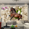 3D Stereoscopic Horse Broken Wall Обои для спальни Гостиная Диван Фон Настенная панно Пользовательские обои Нетканые обои для спальни