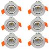 6pcs / lot привело downlight 5W COB потолочное освещение привело чистый белый 110V 220V Алюминиевый потолочный светильник