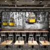 3D фото обои Европейский стиль ретро трамвайная дорога большие фрески ресторан досуг Кафе магазин чая обои гостиная диванная роспись пользовательский чай магазин обои 3d стерео простой ретро кирпичный дерево роспись кафе бар ресторан чай магазин обои фрески