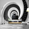 Современные креатвные 3D-пользовательске обо обо Черные белые вхревые лестнцы Простые стльные обо стен гостной