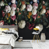 Ретро европейский стиль Красочные цветы 3D Mural Обои Галерея гостиной Art Creative Background Wall Painting Papel Murals