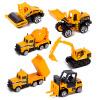 6 видов литья под давлением мини сплава строительство транспортного средства инженерно автомобиль самосвал-автомобиль самосвал мод