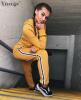 Yizenge Повседневный двухкомпонентный комбинезон для женщин 2018 Fashion Hoodie Drawing Strings Rompers Женский комбинезон