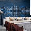 Пользовательские Mural Европейский City Building Гостиная Телевизор Диван обои обои Черный и белый Нью-Йорк ночь 3D-фото обои пользовательские mural европейский ретро здание mural спальня гостиная телевизор фон нью йорк черный и белый город нетканые обои 3d